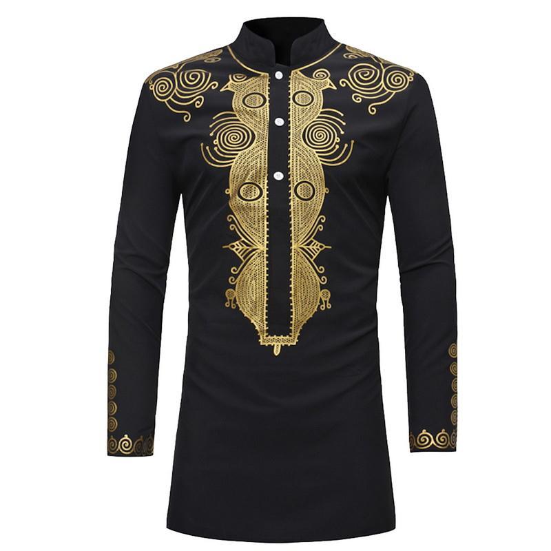 472f120cea98a 2018 Black Plus Size Men Vintage Yoga Shirt Floral Print Men Running ...