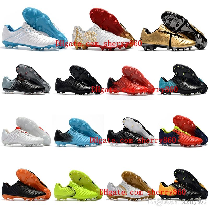 free shipping fashion Style Cheap New Outdoor Mens Tiempo Legend VII FG Football Boots Leather Soccer Shoes Tiempo Totti X Roma FG Soccer Cleats botas de futbol comfortable cheap online cheap sale outlet locations MQwj42g