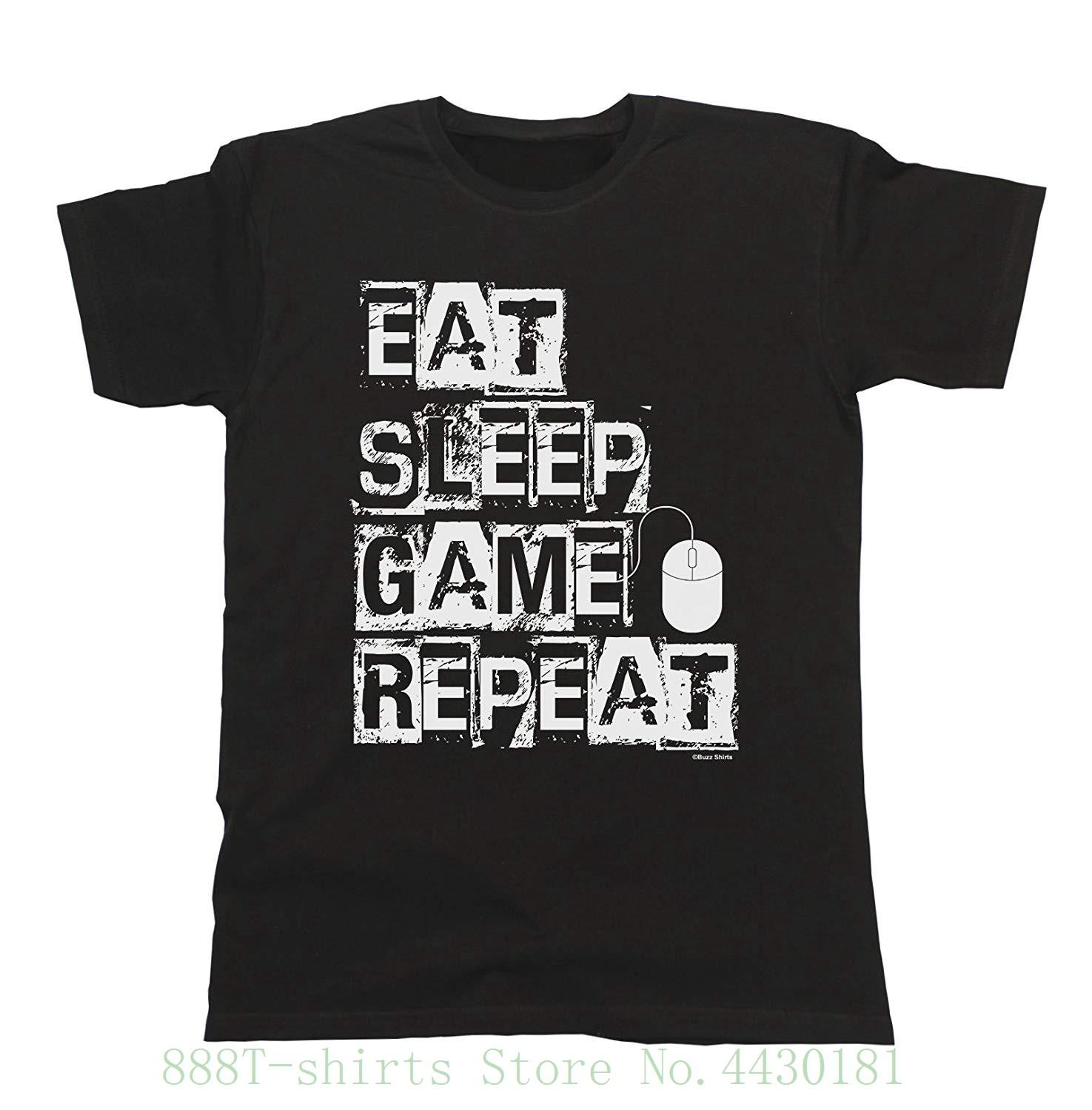 5a259551cc6 Men And Ladies Eat Sleep Game Repeat Pc Mouse T Shirt Mens Ladies Unisex  Fit New T Shirt Men Fashion T Shirts Mens T Shirt Cool Tshirt Designs From  ...