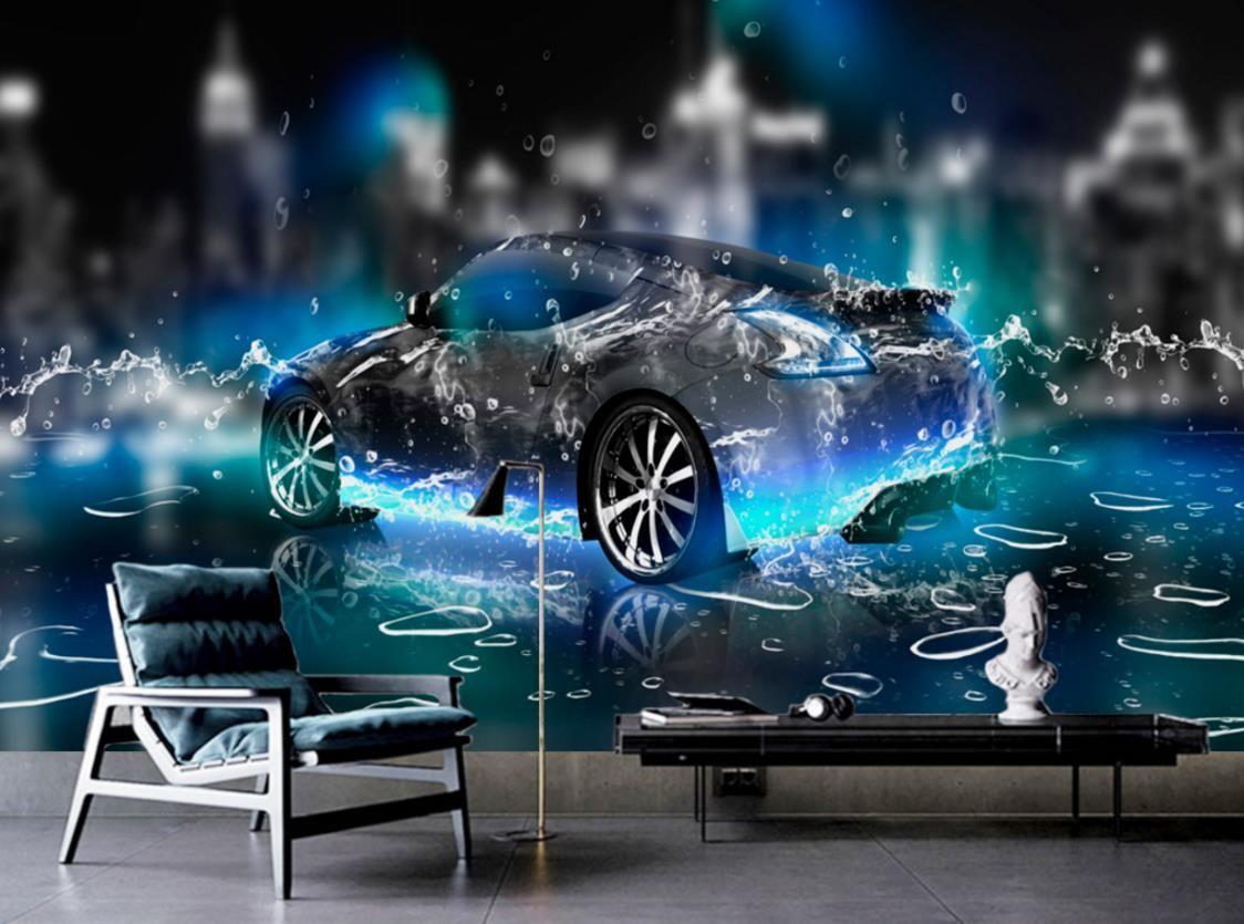 Hd wallpaper for bedroom walls water sports car 3d wall - 3d car wallpaper ...