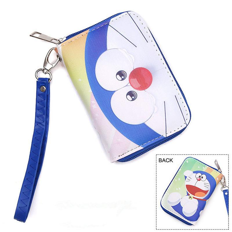Kawaii Japanese Cartoon Wallet Handbag With Coin Pocket and Chain Doraemon/Totoro/Himouto! Umaru-chan Lady Girl's Anime Wallets