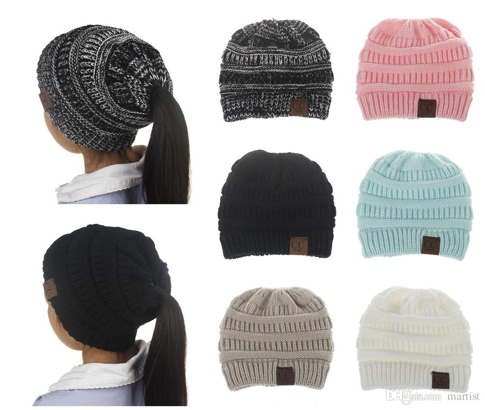 Hot Sale Sports Styles Brief Hats CC Pony Tails Beanie Sports Warm ... fc57c17ab11e