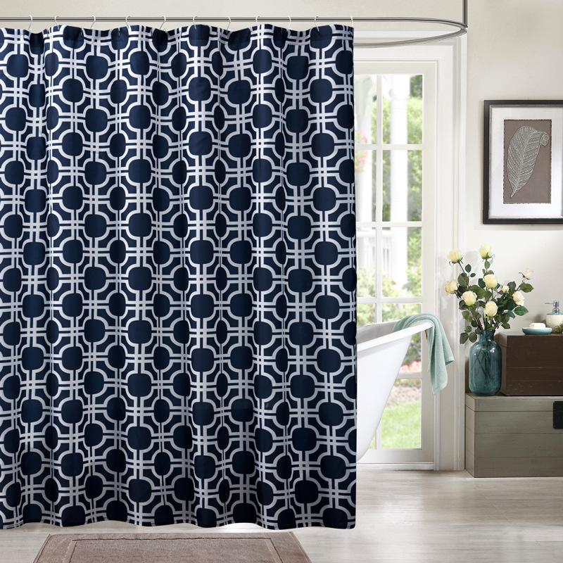2019 UFRIDAY Plaid Geometric Elegant Shower Curtain Waterproof Polyester Bath For Bathroom 3D Screen Home Decoration New From Sophine11