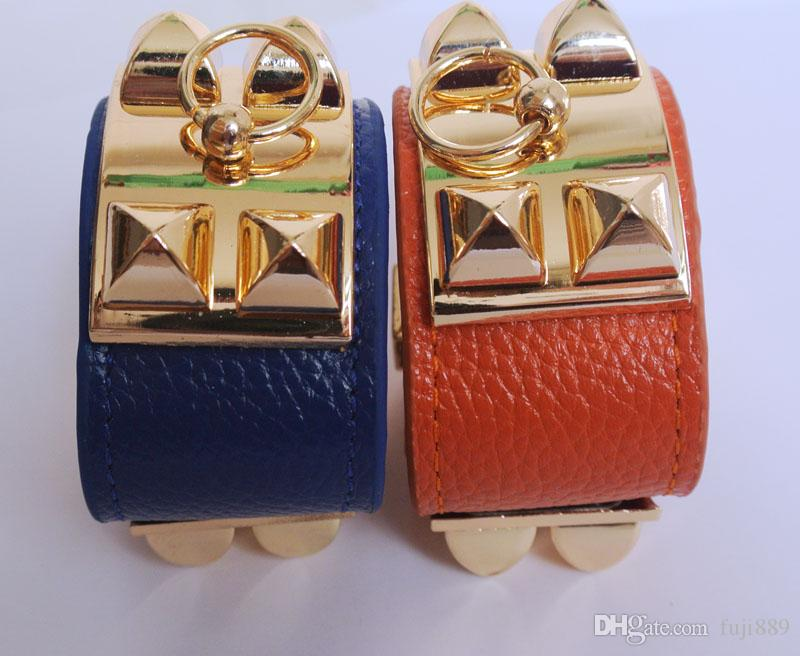 Fashion real leather Punk style bracelet choose send a Gift for girl same as the picture