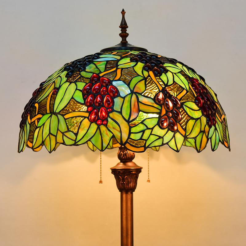 2018 Europe Tiffany Retro Style Stained Glass Grape Floor Lamp Living Room  Bedroom Study Standing Lamp From Samanthe, $371.01   DHgate.Com