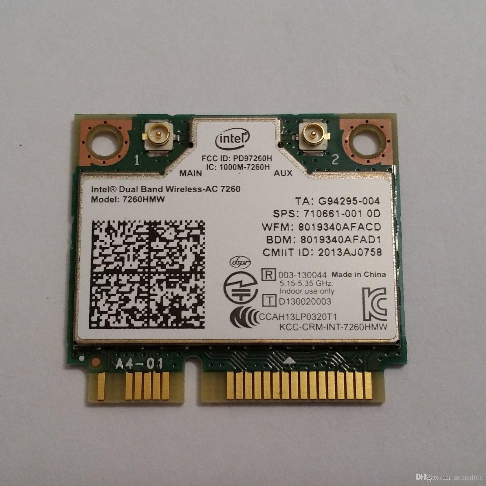 Wireless card for intel 7260HMW 710661-001/784639-005 ac 7260 dual band  867mbps WiFi+BT 4 0 PCIe for HP EliteBook 840 14 17