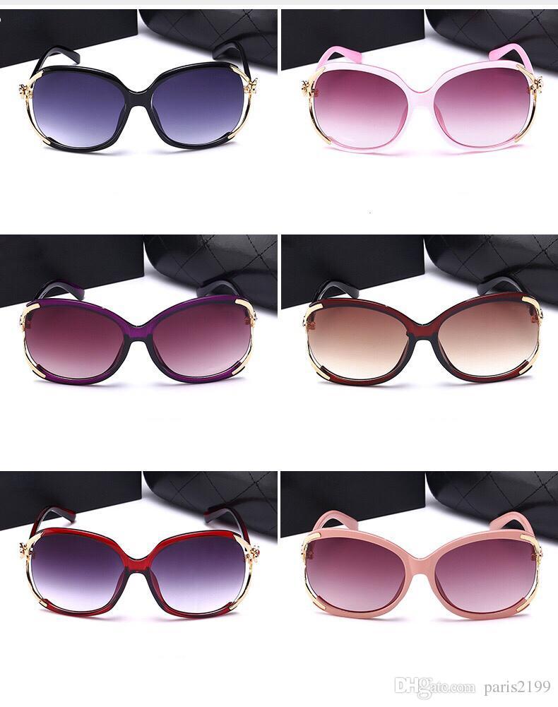 Vendite calde 2018 Nuovo modo di alta qualità camelia fiore stile donne occhiali da sole classici di lusso UV400 occhiali da sole