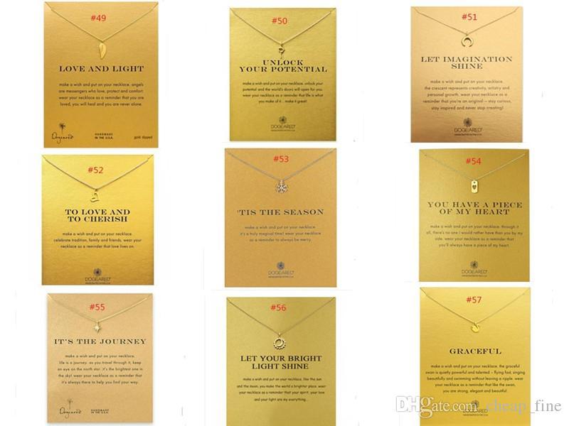 Новый Dogeared Choker ожерелье с карты Gold Circle Elephant Pearl Любовь кулон ожерелье для женщин Мода ювелирные изделия 120 образцов