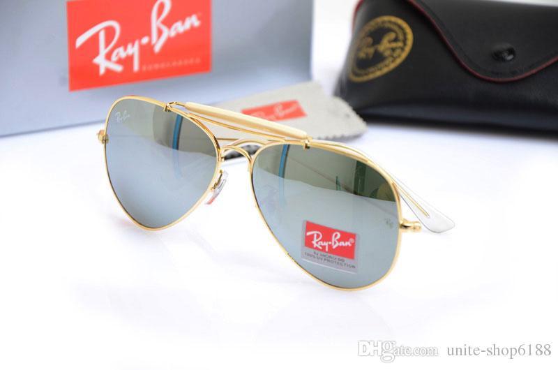 Compre Unisex Óculos De Lente De Vidro Mens Suns Óculos De Piloto 3029  Marca Designer Da Mulher Óculos De Sol UV Óculos De Proteção Com Casos  Originais De ... bbffea8e16