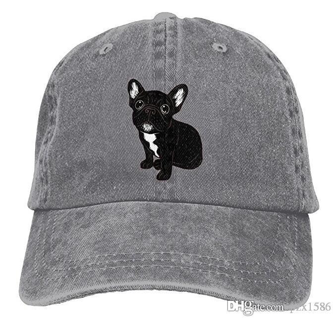 3509d4501f0f8 Pzx  Men Women S Cute Brindle Frenchie Puppy Vintage Cotton Denim Baseball  Cap Hat Flat Cap Trucker Hats From Pzx1586
