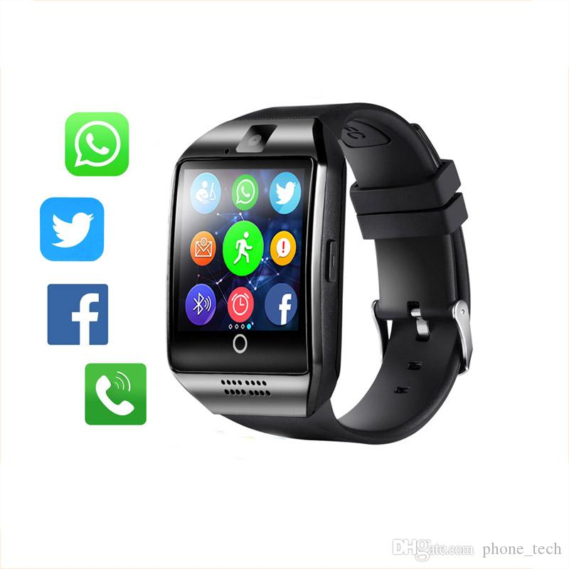 Wearable Devices Men Women Bluetooth Smart Watch Q18 With Touch Screen Big Battery Support Tf Sim Card Camera For Android Phone Smartwatch Convenient To Cook