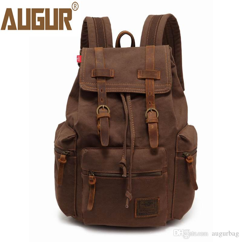 1ce1812bcb New 2018 Fashion Mens Backpack Vintage Canvas Large Capacity Laptop Backpack  School Bag Mens Travel Bags Swiss Gear Backpack Osprey Backpacks From  Augurbag