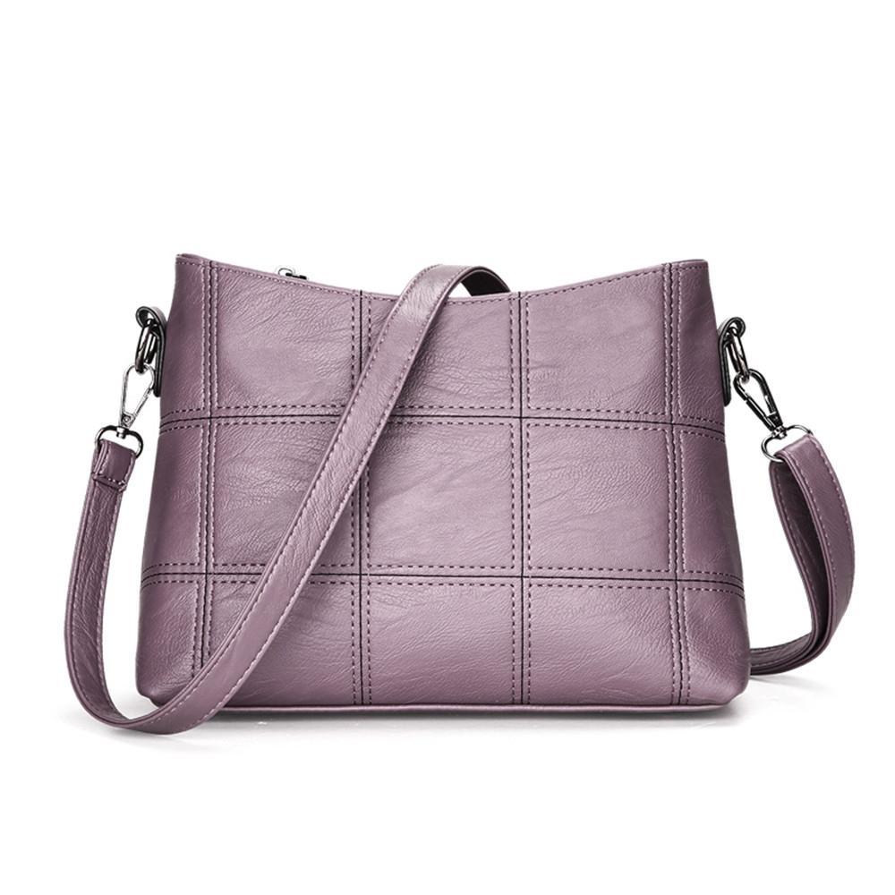 b2d52c676852 Women Plaid Messenger Bags Sac a Main PU Leather Shoulder Bags Women  Crossbody Bag Ladies Designer High Quality Handbags