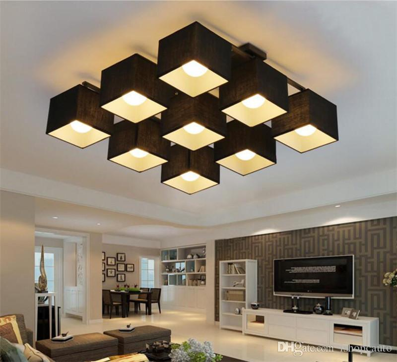 2019 Fabric Art Cloth LED Ceiling L&s Nordic LED Chandelier Modern Living Room L& Bedroom Kitchen Lighting From Ishopcauto $87.44 | DHgate.Com & 2019 Fabric Art Cloth LED Ceiling Lamps Nordic LED Chandelier Modern ...