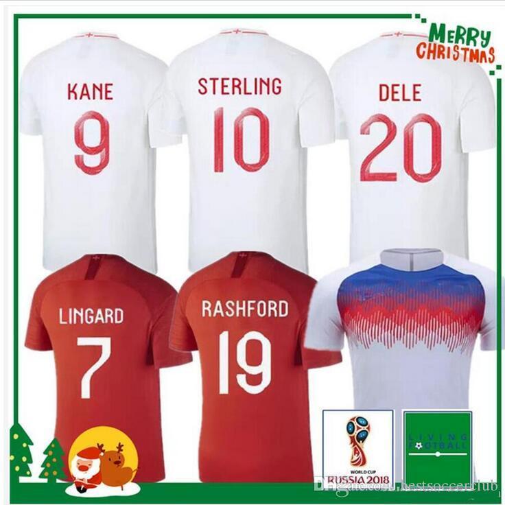 cbf2777d736 2018 2019 DELE ALLI Camisetas De Fútbol De La Copa Mundial 2019 Selección  Nacional KANE RASHFORD VARDY Camiseta De Fútbol LINGARD STERLING STURRIDGE  ...