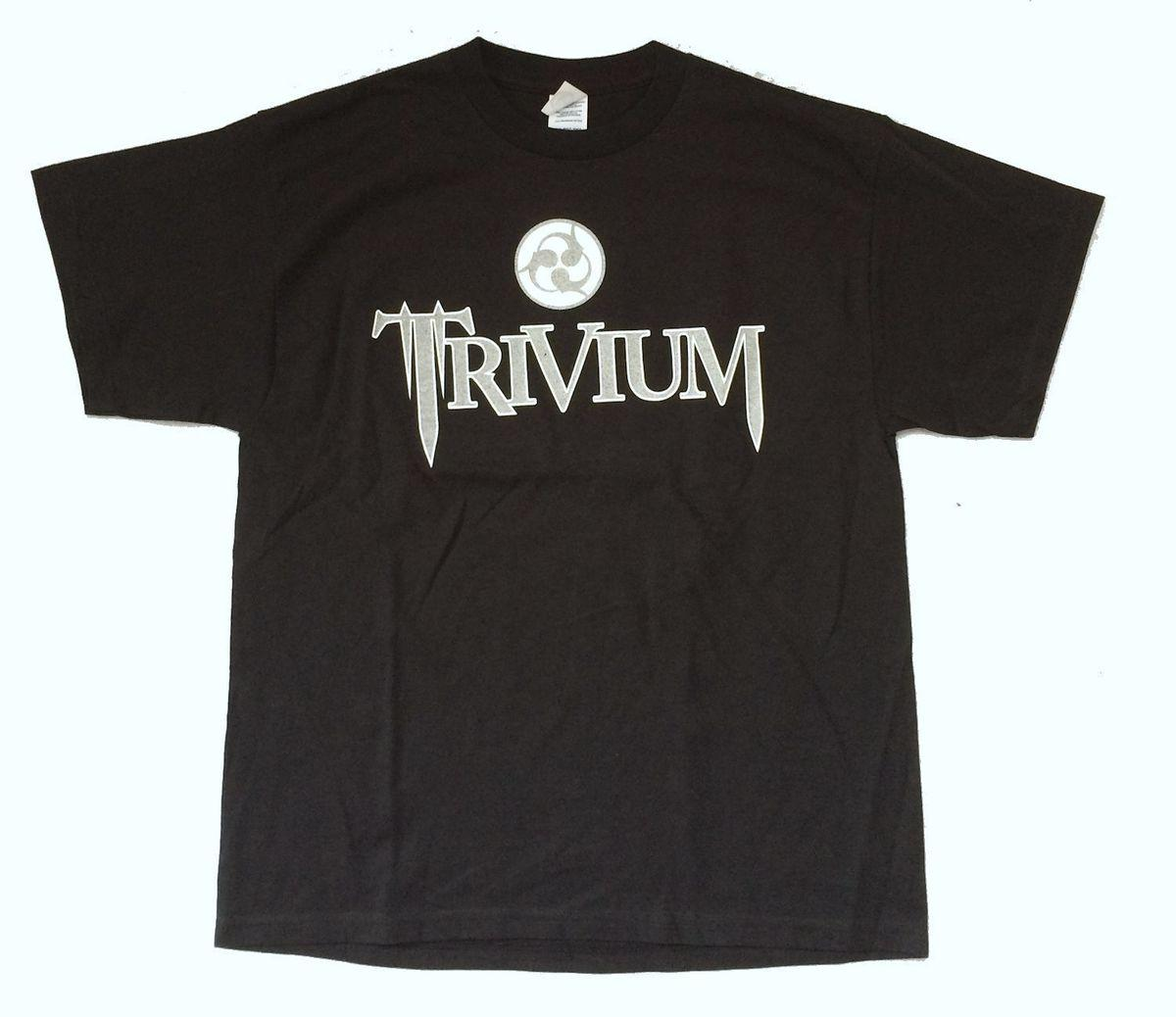 Trivium Silver Logo Crusade 2007 N.A. Summer Tour Black T Shirt Nuevo estilo oficial Summer Style para hombre T-Shirt Chinese Style