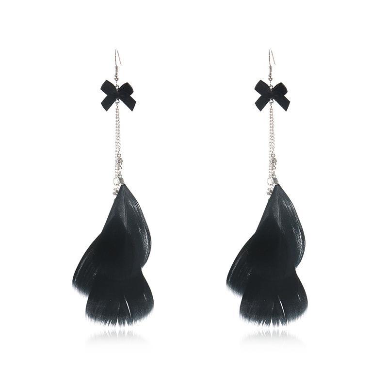 2018 New Handmade Drop Dangle Earrings of Feather Drop Earrings Boho ... 6f101ba37811