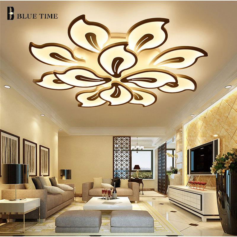 2018 Acrylic Modern Led Ceiling Lights For Living Room Bedroom White Simple Plafon Lamp Home Lighting Fixtures Ac85 260v From Burty