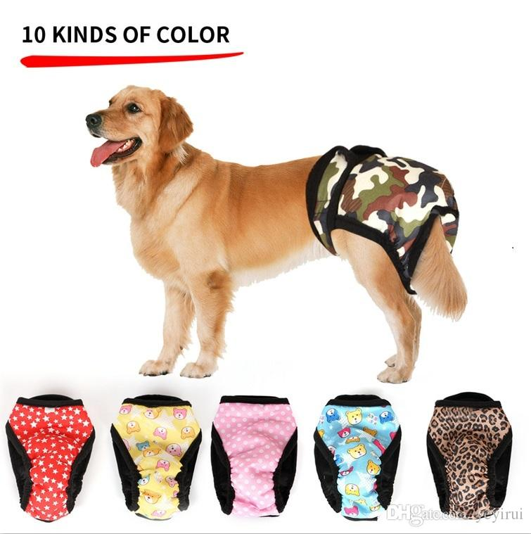 Adjustable Dog Sanitary Panties for Male Female with Fastener Strap ... 2ca9f8087