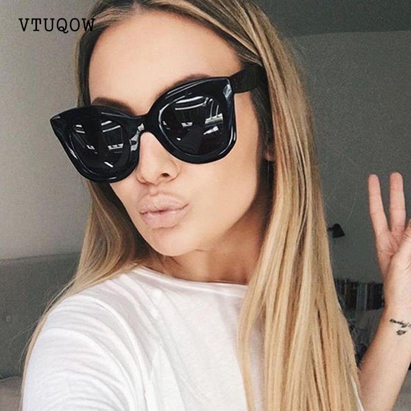 Acheter 2019 Mode Haute Qualité Cat Eye Lunettes De Soleil Femmes Marque  Designer Rétro Gradient Lunettes De Soleil Femmes Femmes Dames Lunettes De  Soleil