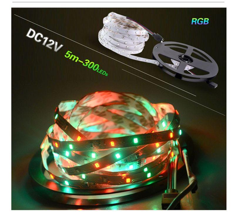 Tira de luz LED de 12V CC 5M 300 LED SMD3528 5050 es DiodeTape individuales de alta calidad Cinta flexible Inicio decoation Luces