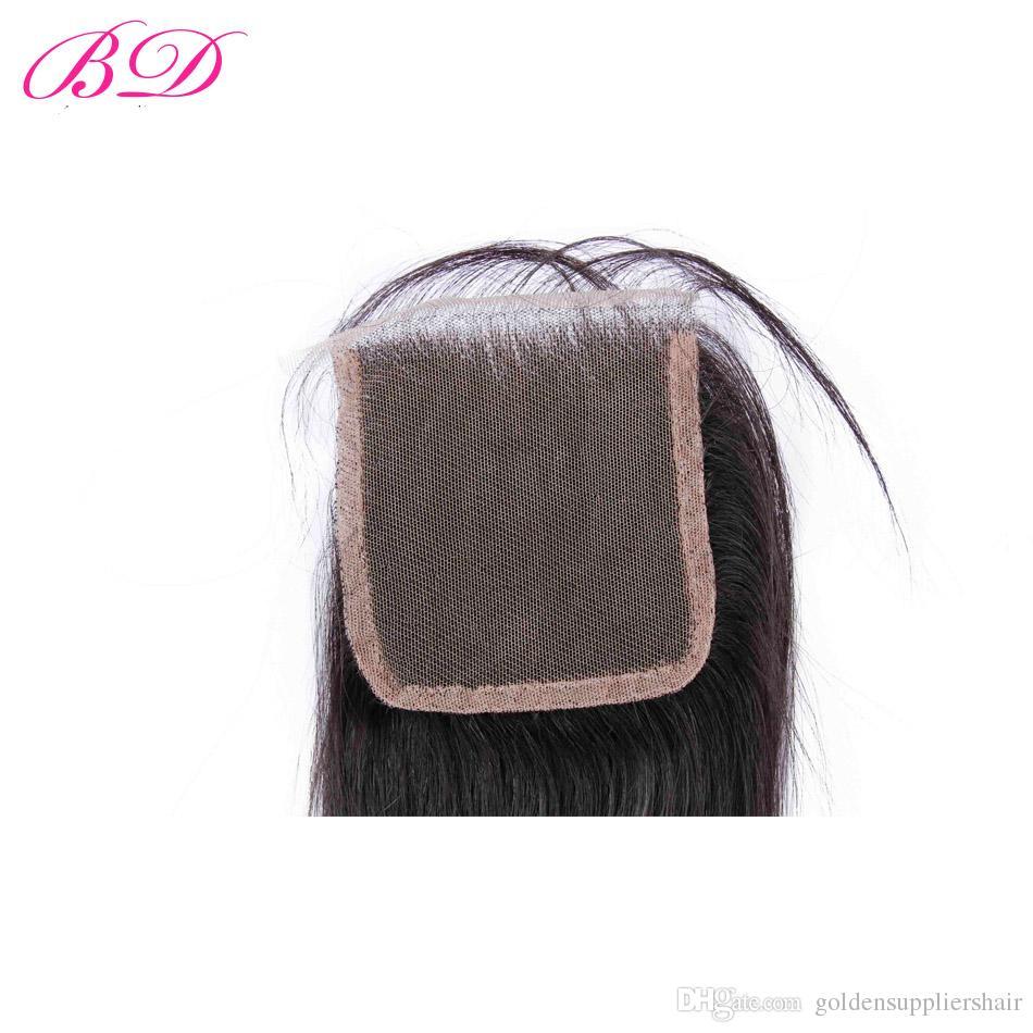 Fasci di capelli di alta qualità BD Chiusure in pizzo Capelli vergini peruviani Nessun spargimento il commercio all'ingrosso africano