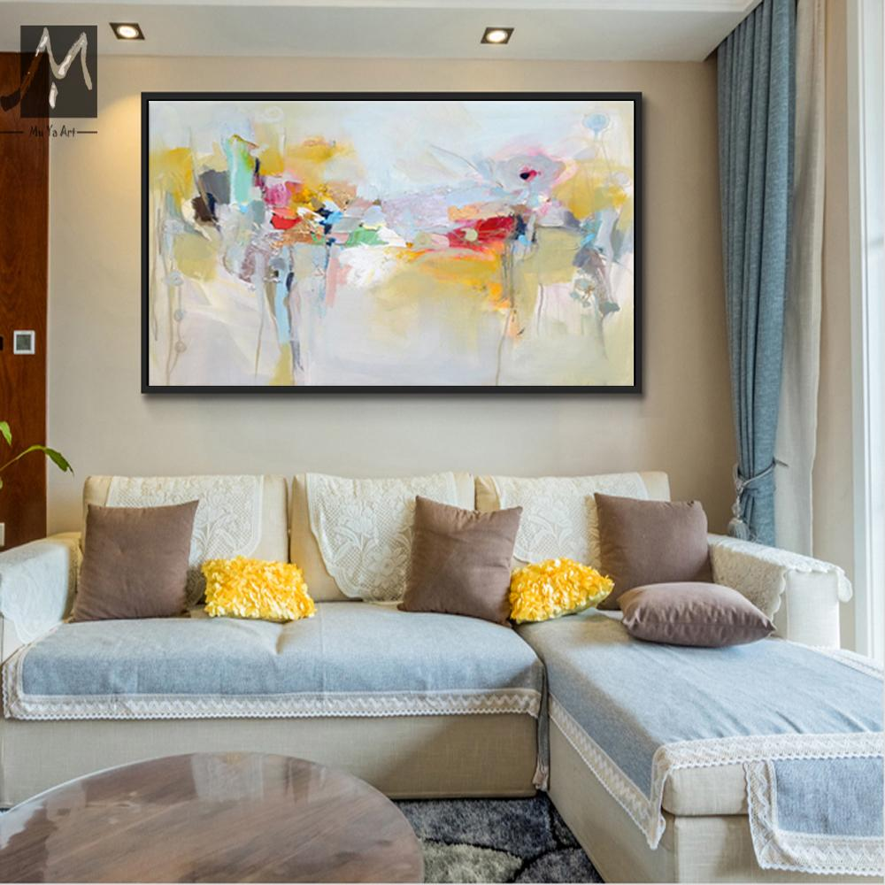 2019 Large Canvas Wall Art Acrylic Painting Modern Paintings Wall