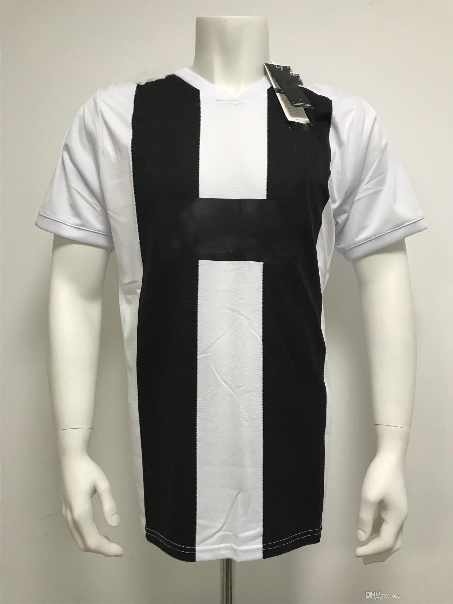 189cad25ffb 2018-2019 Juvent Ronalda blanco y negro camisa de fútbol jersey envío  gratis nuevas llegadas de fútbol caliente camiseta jerseys tamaño S-XL ...