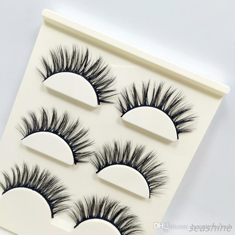 New Style A8 natural false eyelashes fake lashes long makeup 3d real mink lash extension eyelash mink eyelashes for Headmade beauty