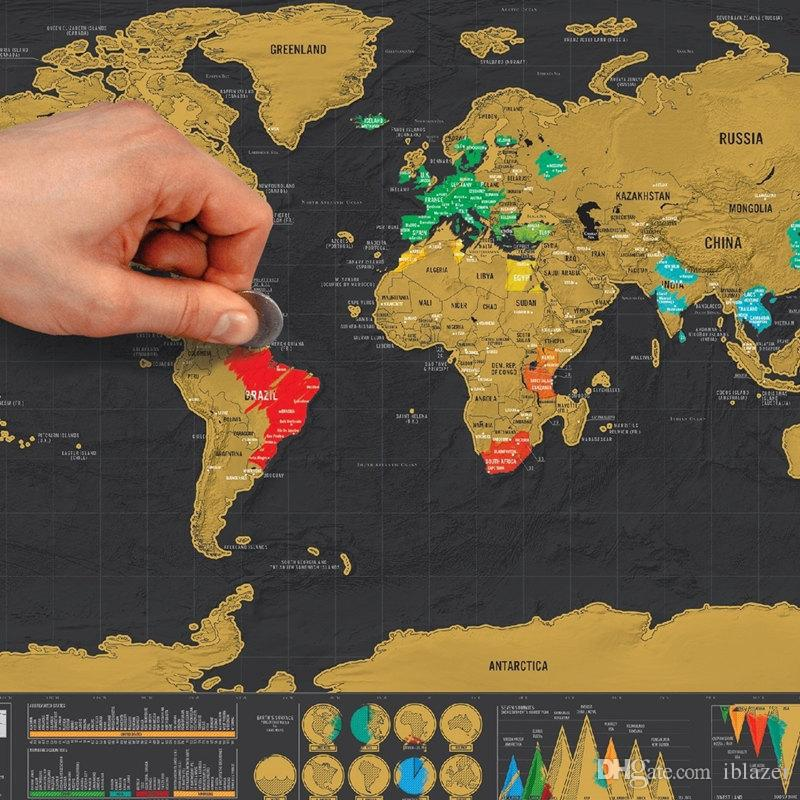 Scratch off world map poster travel deluxe small scratch map premium scratch off world map poster travel deluxe small scratch map premium quality travel map with countries states cities scratch map map online with publicscrutiny Image collections