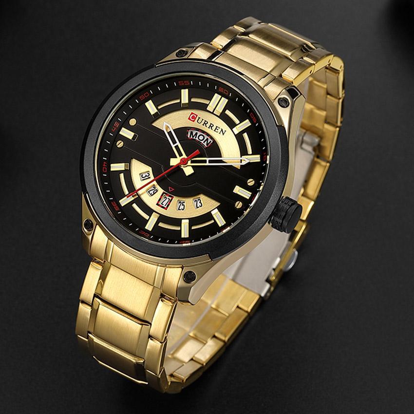 Compre Relojes Curren Relojes De Lujo Para Hombres Relojes De Oro De  Primera Marca De Lujo De Cuarzo Creativo Hombres De Acero Inoxidable Reloj  Gold Man ... fbda6c016c5e