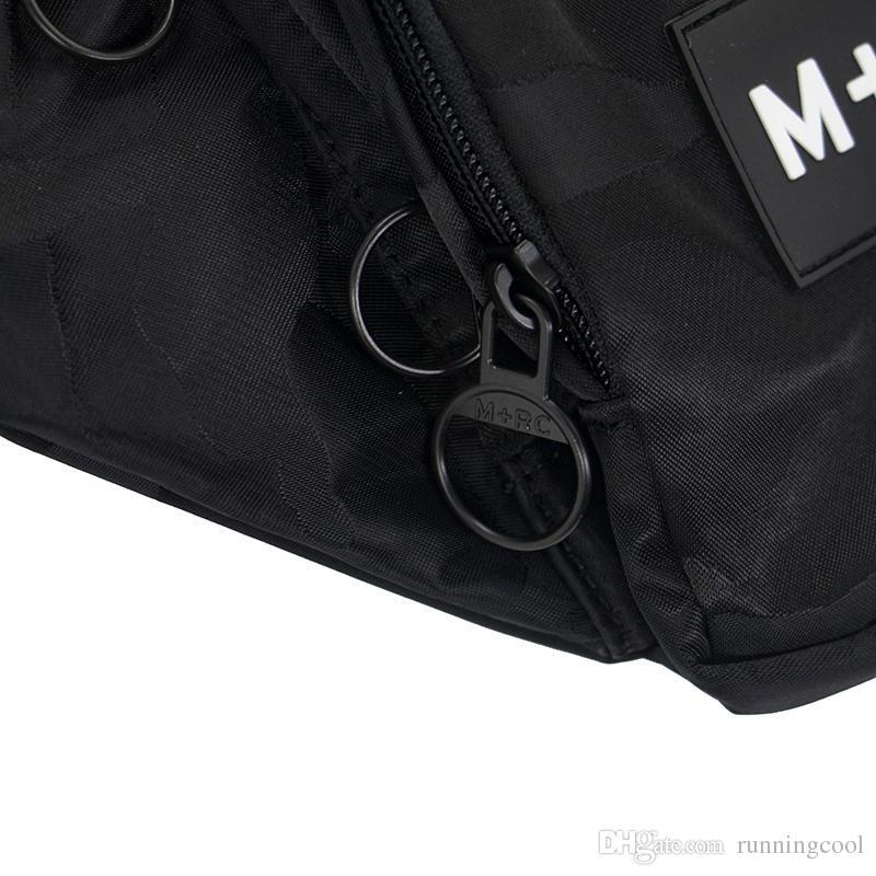 New M+RC NOIR RR Waistbag Cross Body Waist Bag Pack Chest Pack Unisex Fanny Pack Waist Bag Men Canvas Waterproof Messenger Bags