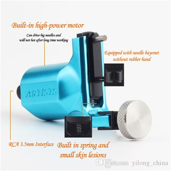 Artist Rotary Blue Color Tattoo Machine Swiss Motor Liner Shader Supply With Best Rotary Tattoo Gun For Tattoo Artist For