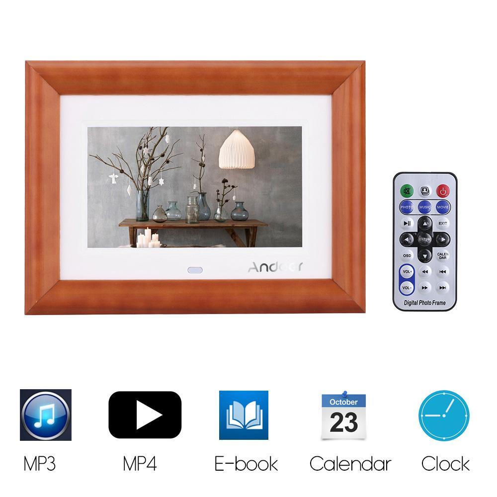 2018 Wholesale 7 Lcd Digital Photo Frame Desktop Wood Picture Frame ...
