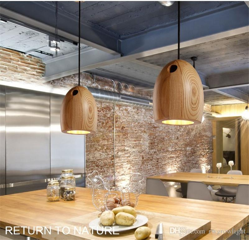 Creative solid wood led pendant light cafe restaurant wood pendant creative solid wood led pendant light cafe restaurant wood pendant lamp nordic modern lighting hanging lamp for home light wood pendant lamp moroccan mozeypictures Image collections