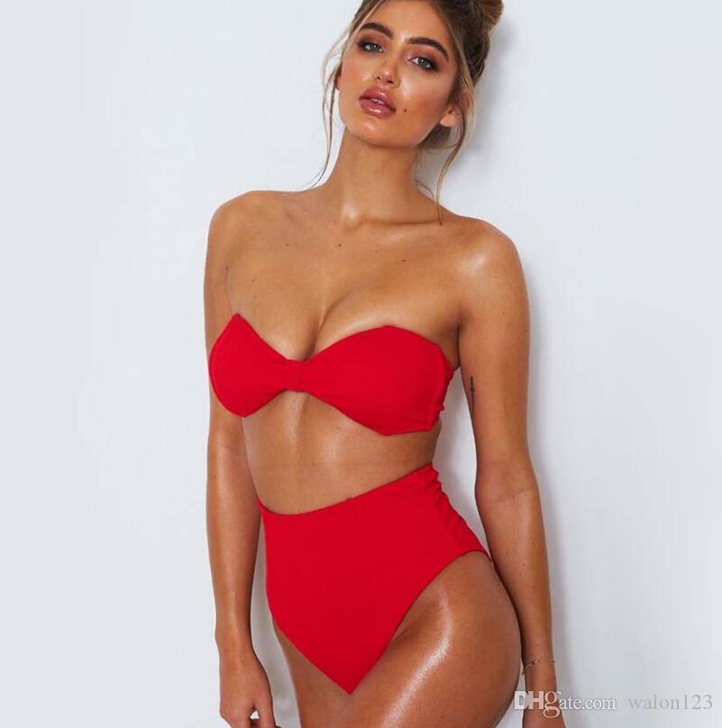 nueva oferta especial los más valorados Wholesale Newest Summer Sexy Bikini Women Swimwear Occidental Secret Beach  Swimsuit Push Up Bathing Suits 12 Colors S To XL