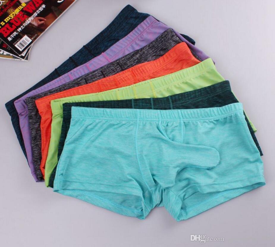 3b7eabd358556a 6 pecs Men's underwear men's briefs low waist sexy bump JJ sets modal bullet  clutch aircraft pants elephant trunk pants