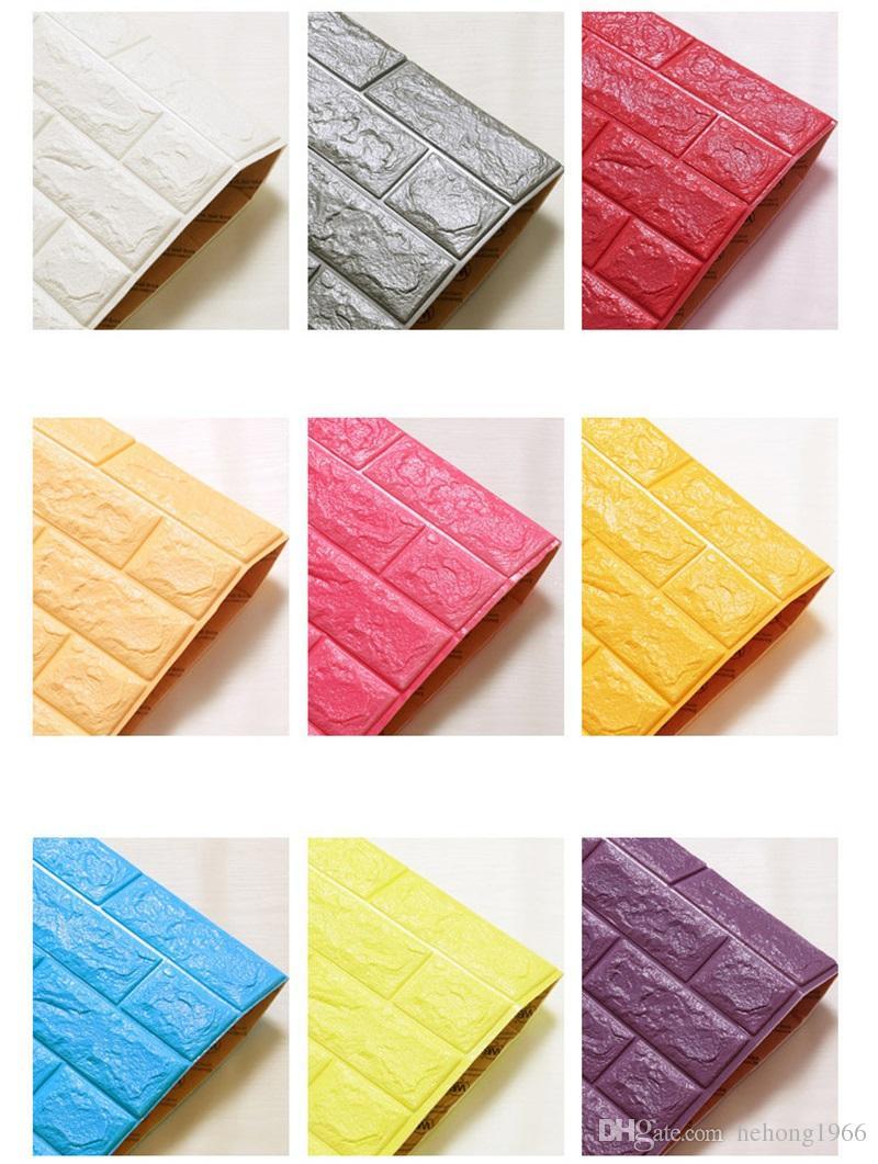 70 * 77 cm Su Geçirmez DIY Duvar Kağıdı Yaratıcılık Dekoratif Plastik 3d Duvar Panelleri Oturma Odası Ücretsiz Tutkal Tasarım 3d Duvarlar Kurulu Yeni 8 5as Z
