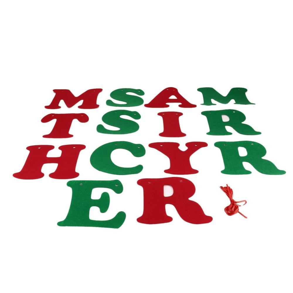 Buchstaben Frohe Weihnachten.14 Teile Satz Weihnachten Hängende Buchstaben Frohe Weihnachten 3 Mt Rot Seil S 007 Dekoration Banner Flagge Neujahr Party Dekoration
