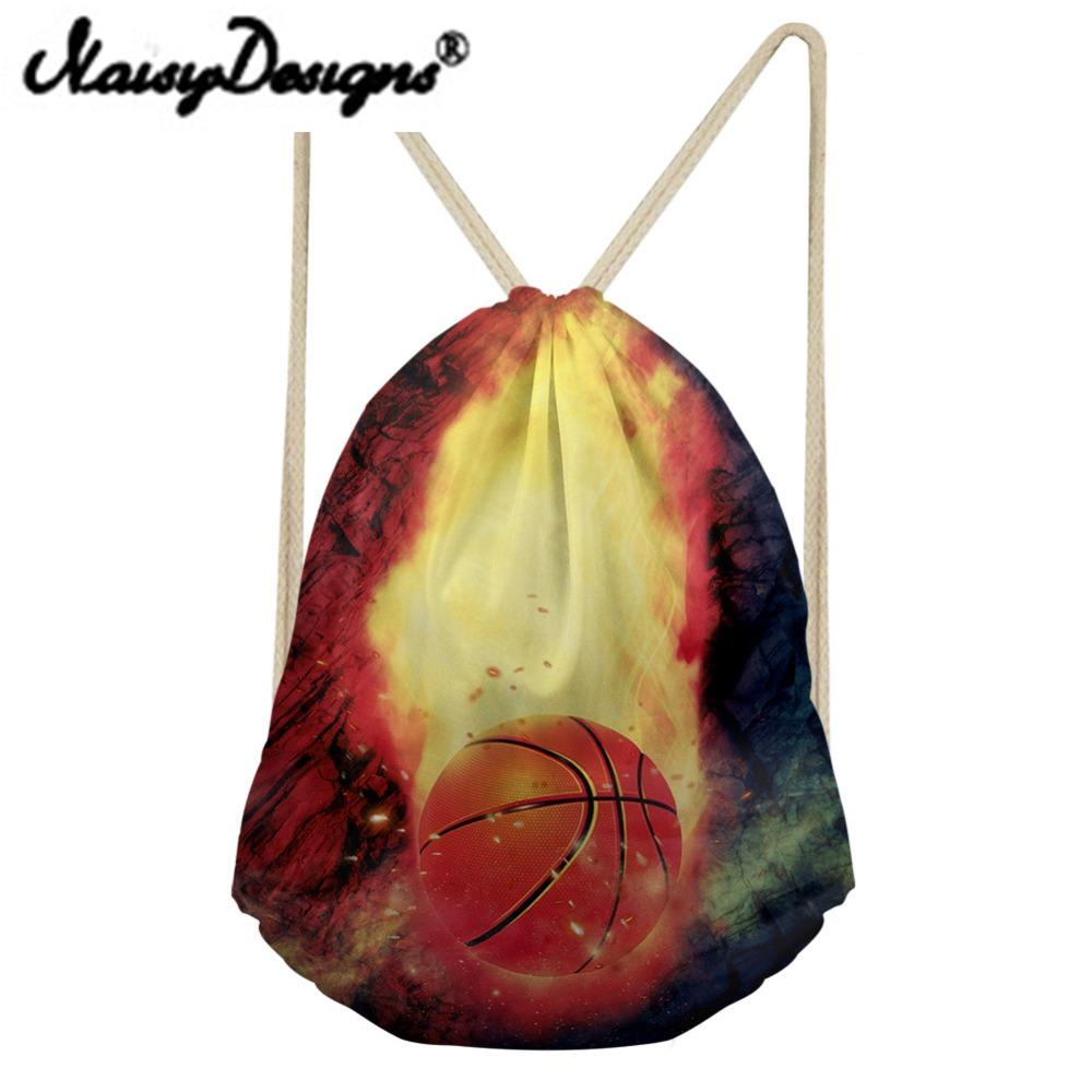 NOISYDESIGNS Travel Men Backpack Cool Basketball/rugby Prints Men's Drawstring Bag School Boys Small Softback Bagpack