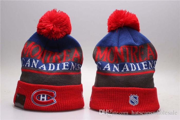 Classic High Quality Montreal Sport Hockey Skullies Bones Fashion Hip Hop  Style Fans Canadiens Beanies Team Logo Embroidered Baseball Caps Snapback  Hats ... daf10c1d3