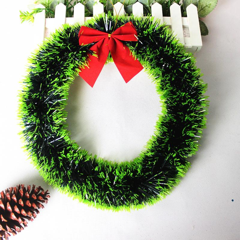 2018 mix wholesale christmas garland 35cm bow knot christmas wreath wall ornament door decor navidad christmas decorations for home ari 030 from topscend - Christmas Wreath Decorations Wholesale