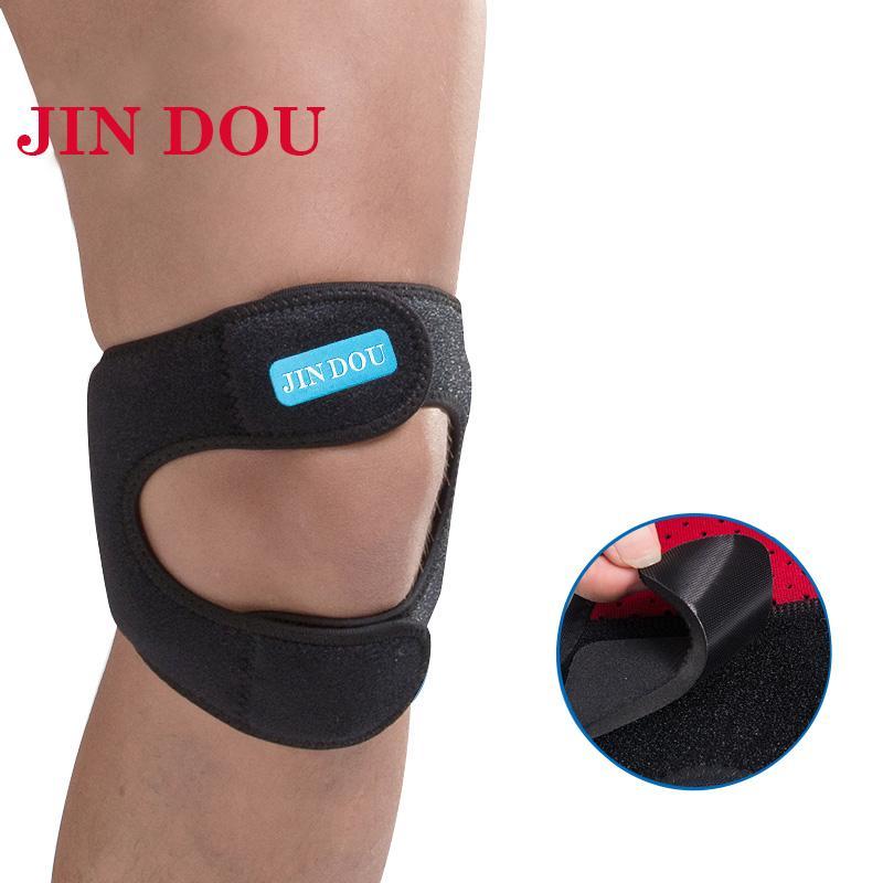 e5bcfe13c9 2019 JINDOU Knee Patella Support Brace Sports Kneepad Double Patellar  Tendon Strap Pad Protector Open Knee Wrap Strap Band From Brandun, $20.84 |  DHgate.Com