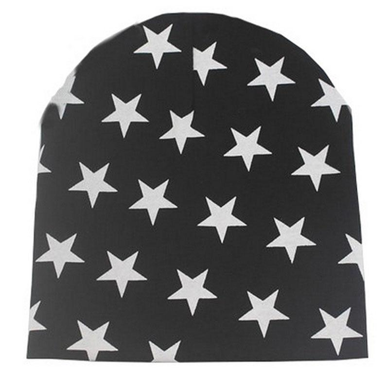 2017 Toddler Kid Girls Boys Baby Winter Warm Crochet Knit Hat Beanies Skullies Stars printed Baby Hat