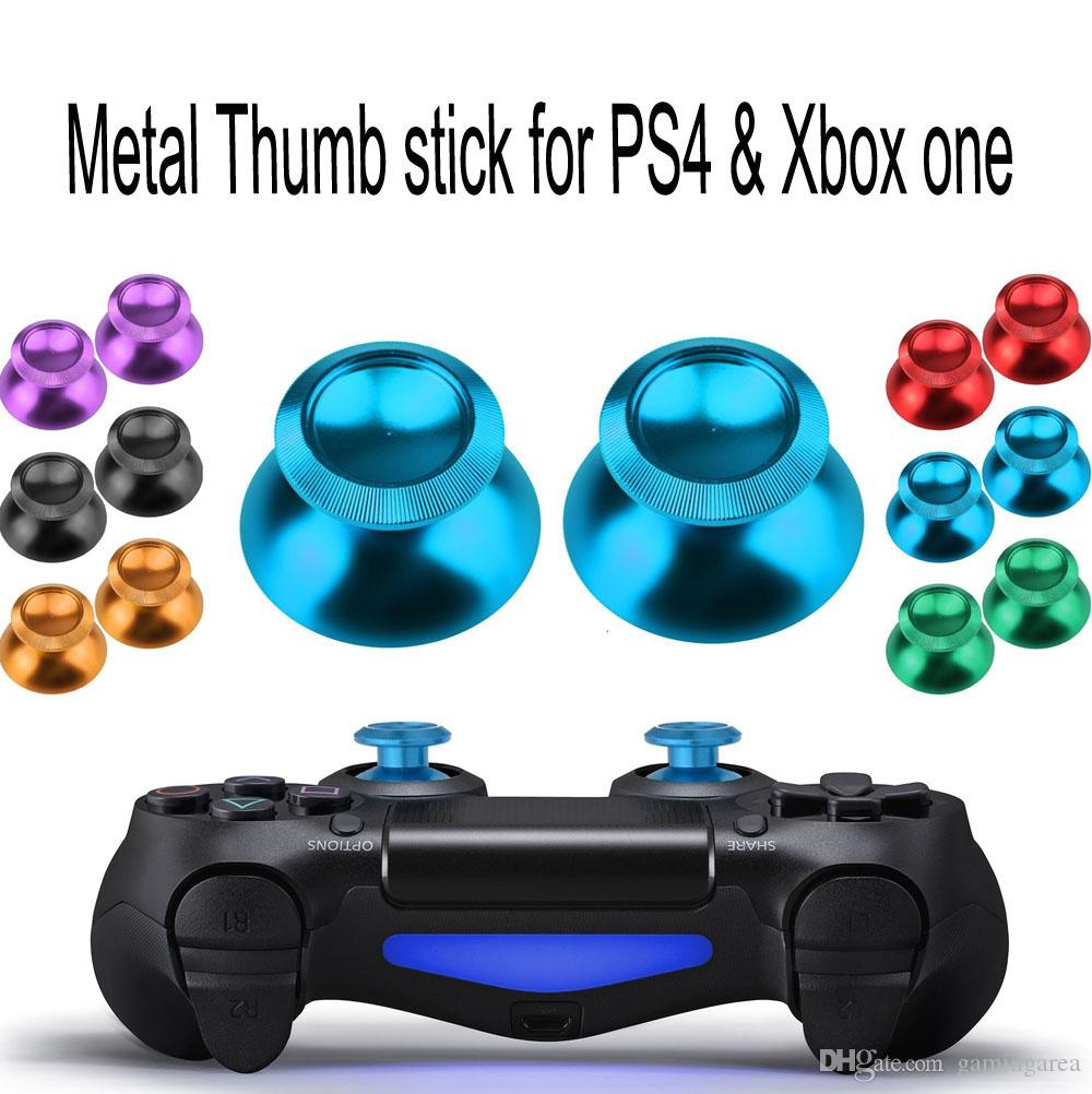 Aluminum Metal Joystick Cap Thumbstick Cover Joystick Caps Button for PS4  XBOX ONE Controller Replacement Parts High Quality FAST SHIP