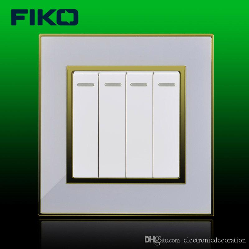White Four Gang Switch,one Way Wall Switches,china Factory Supply ...