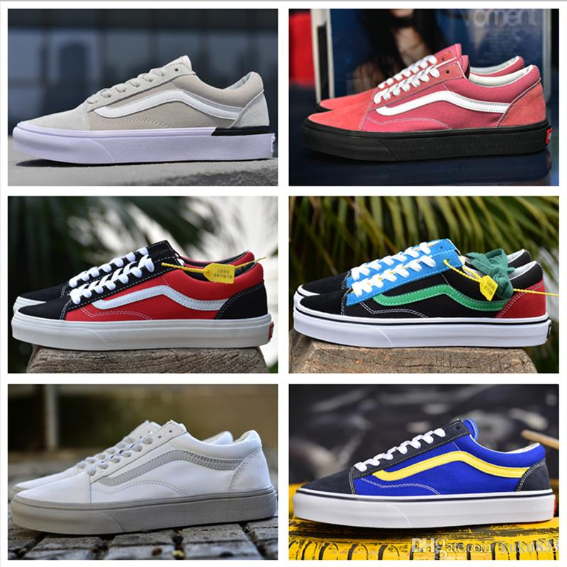 2018 New VansES Old Skool Classic Canvas Casual Style 36 Running Sneakers  Best Quality Colorful Men Women Skateboarding Shoes Size US 36 44 Geox Shoes  Cheap ... 6dc120cd3