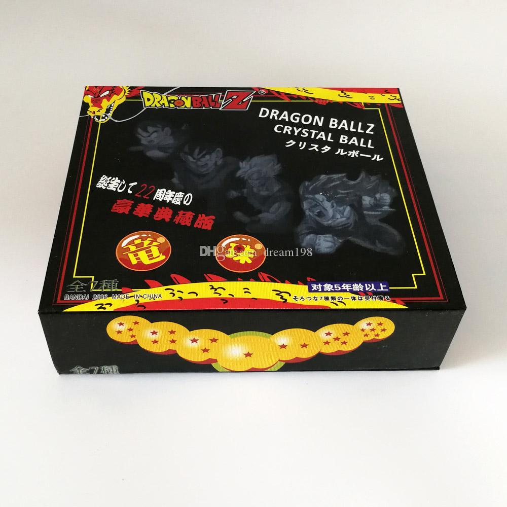 새로운 크리스탈 드래곤 볼에서 상자 드래곤 볼 Z 공 전체 액션 피겨 장난감에 대한 최고의 선물 / 로트 - 크기 : 가로 3.5cm DR1