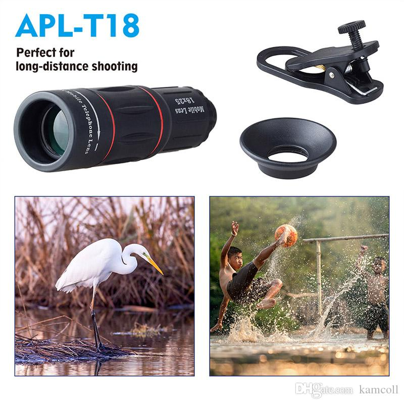 Universal 18X Telescope Magnification Zoom Mobile Phone Monoculars Telephoto Camera Lens With Clip Tripod For iPhone for Samsung Xiaomi