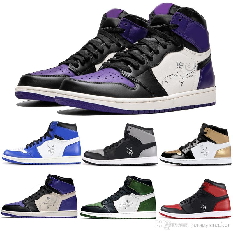 Designer Shoes OG 1 Womens Basketball Shoes 1 Pine Green Court Purple Top 3  Barons Hare Mens Sports Shoes Men Sneakers Size 5 13 Baseball Shoes  Basketball ... 7553f4c867a3